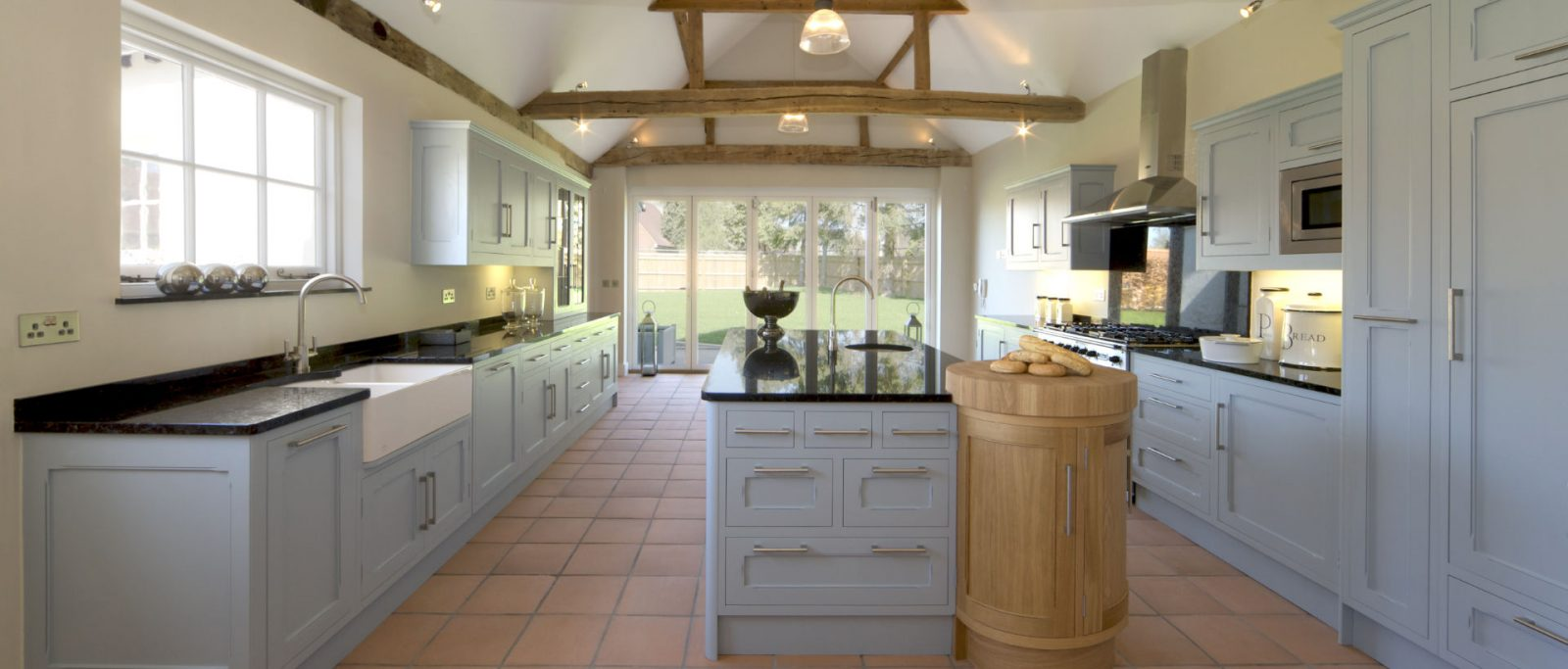 We carry out finishing the kitchen in a wooden house 56